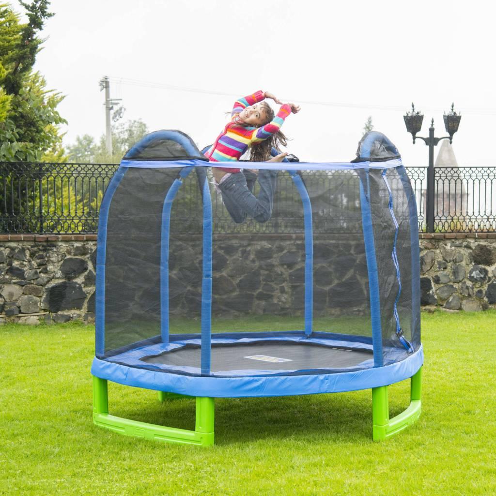 Girl Jumping on BouncePro Hexagonal Trampoline