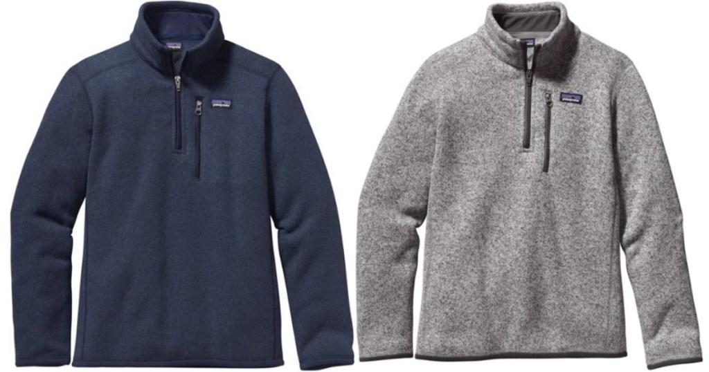 boys patagonia fleece jackets