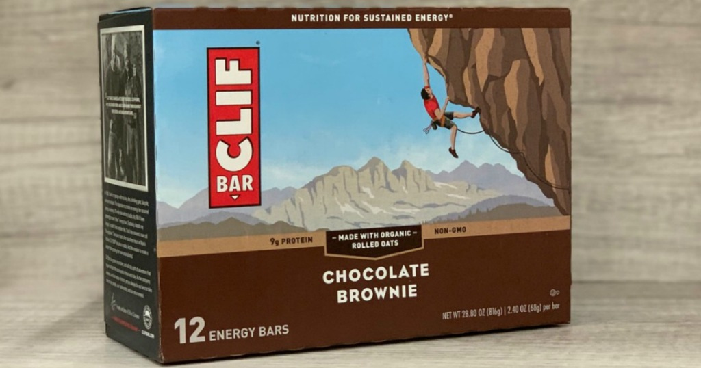 CLIF bar brand energy bar in a 12-pack from Amazon