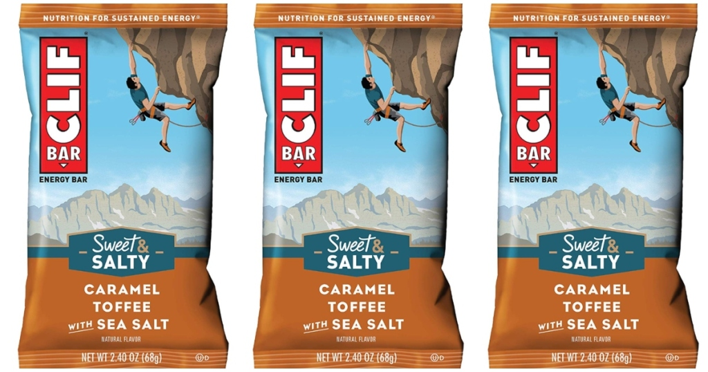 Three single Clif Bars in a row
