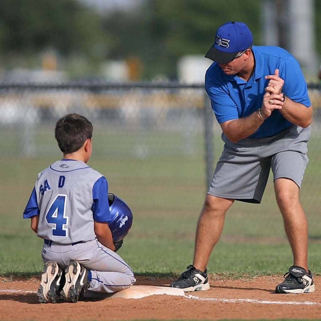 baseball coach and player