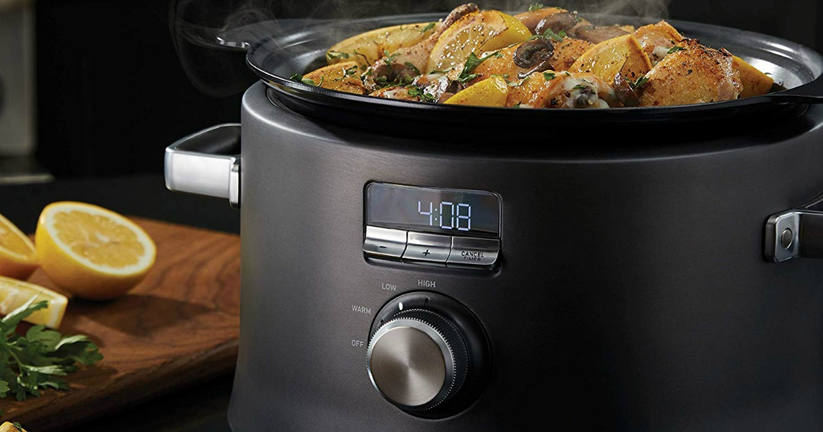 food in a slow cooker