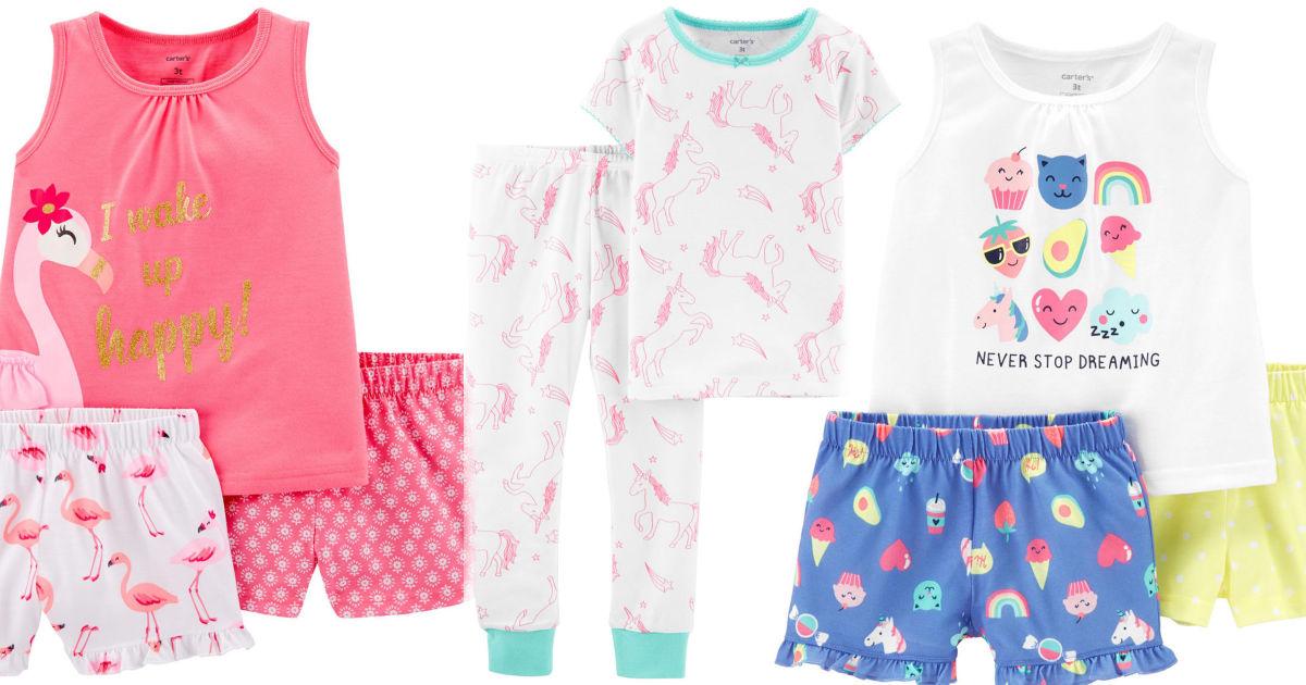 Carters 2 and 3 piece pajama sets