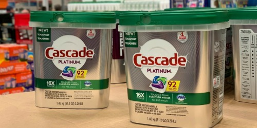 Cascade Platinum Dishwasher ActionPacs 92-Count Only $14.98 at Sam's Club (Regularly $20)