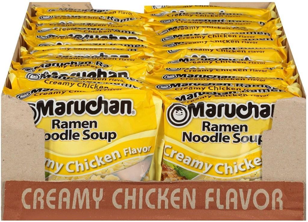 Case of Ramen Noodles in Creamy Chicken flavor from Amazon