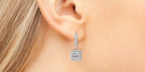 Cate & Chloe 18K White Gold Plated Earrings & Gift Box Only $14.99 Shipped + More