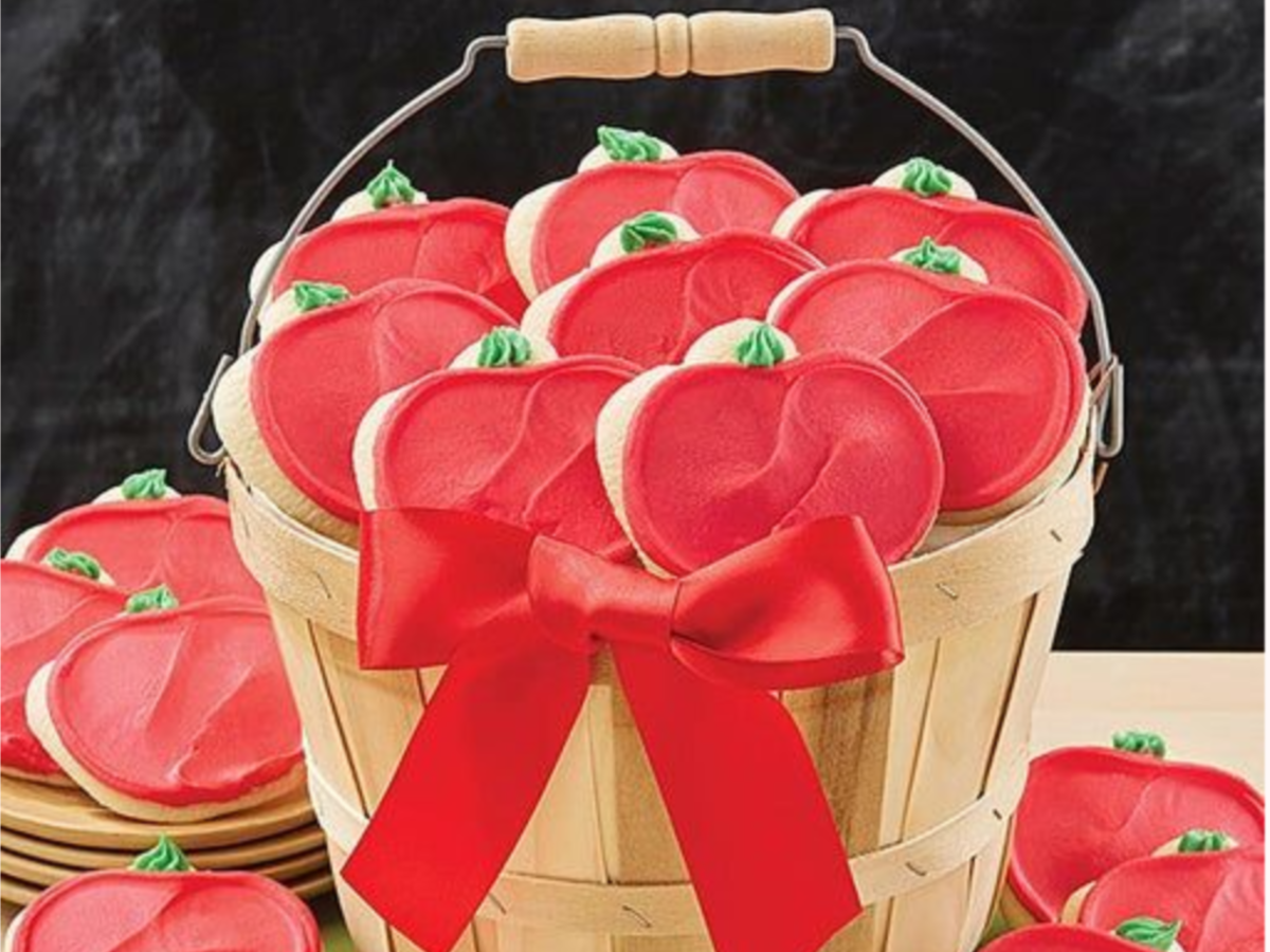Cheryl's Apple Cut-Out Cookies in bucket