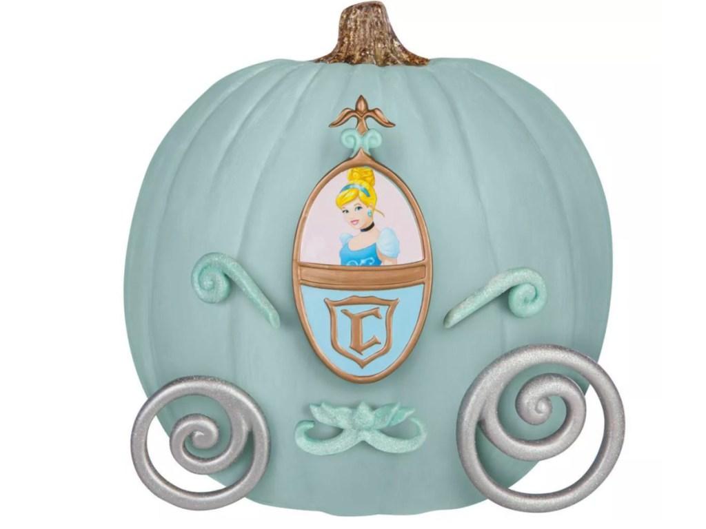 Pumpkin decorated with cinderella accessories