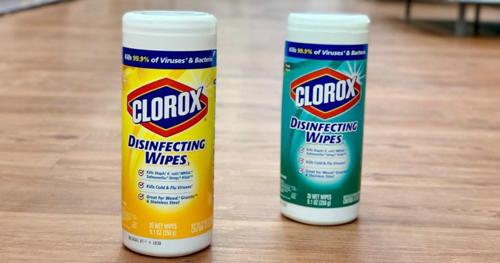 Clorox Wipes on store floor