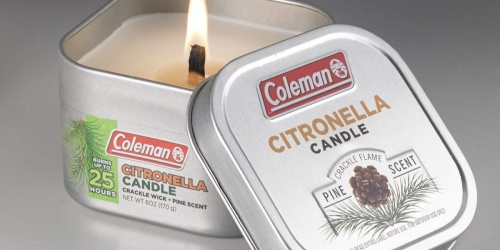 Coleman Scented Citronella Candles w/ Wood Crackle Wick Just $2.94 at Amazon