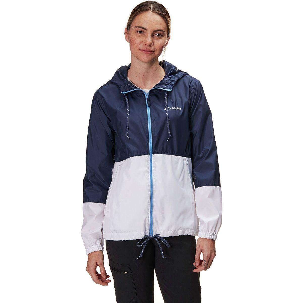 Women's Columbia Rain Jacket in Nocturnal / white