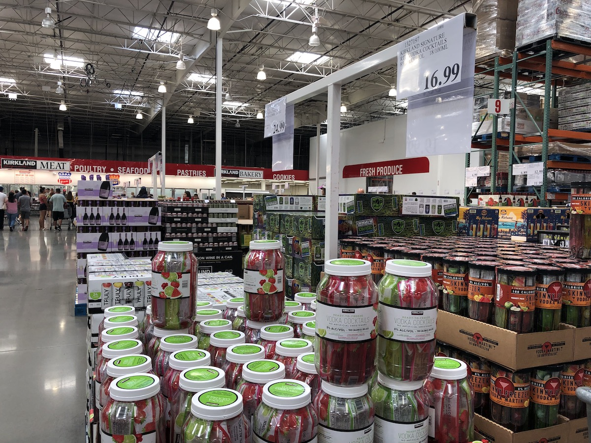 Kirkland Signature Ready-To-Freeze Vodka Cocktails in Costco store