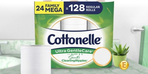 Cottonelle 24 Family MEGA Toilet Paper Rolls Only $19 Shipped at Amazon