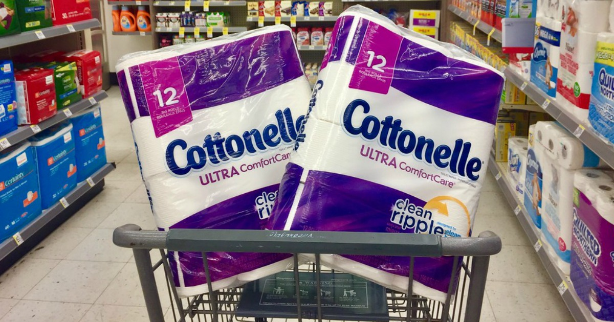 cottonelle in walgreens cart 2 packs