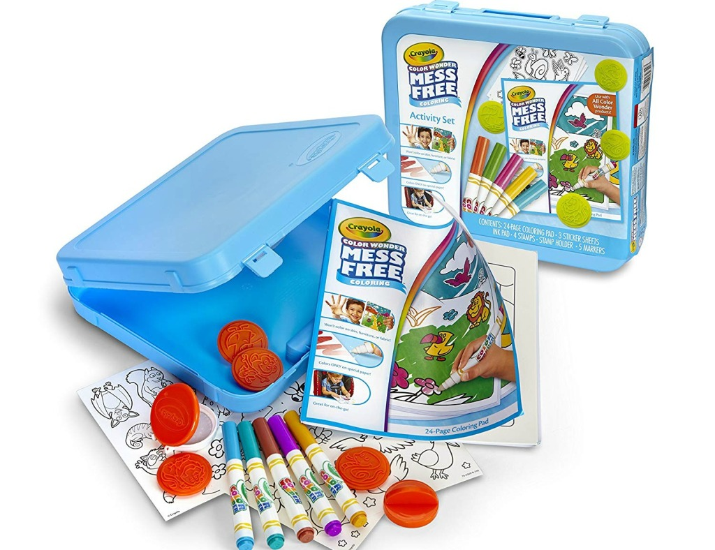 Crayola Color Wonder Activity Kit full of markers, stickers, and more