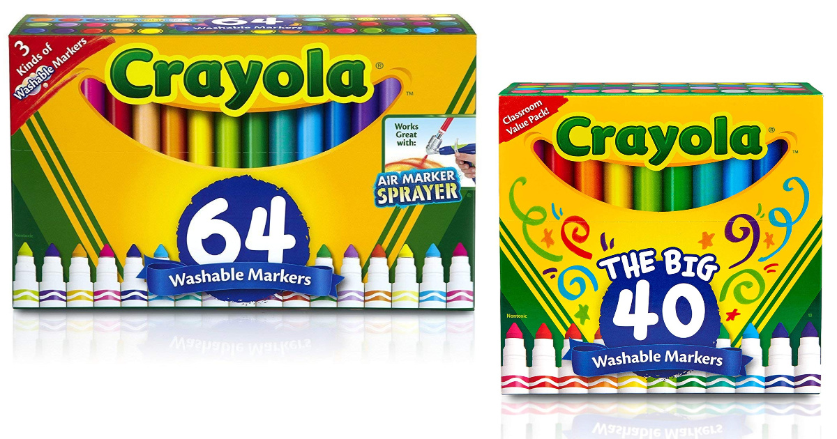 crayola marker packs