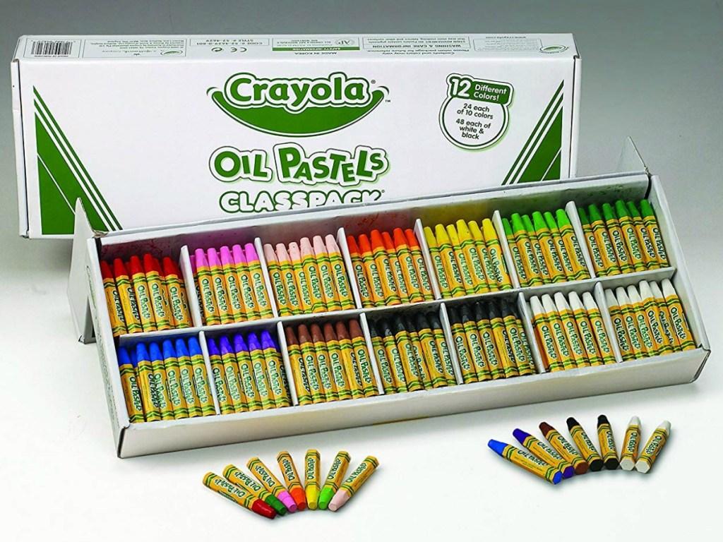 crayola pastel crayons