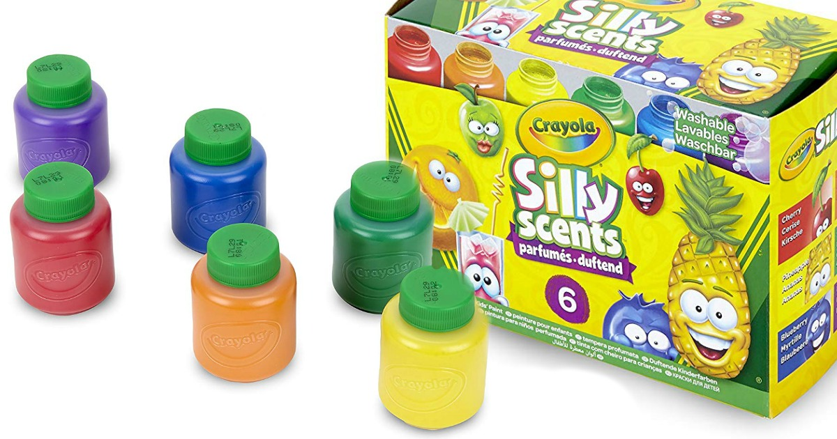 Crayola Silly Scents Washable Kids Paint 6-Pack Just $2