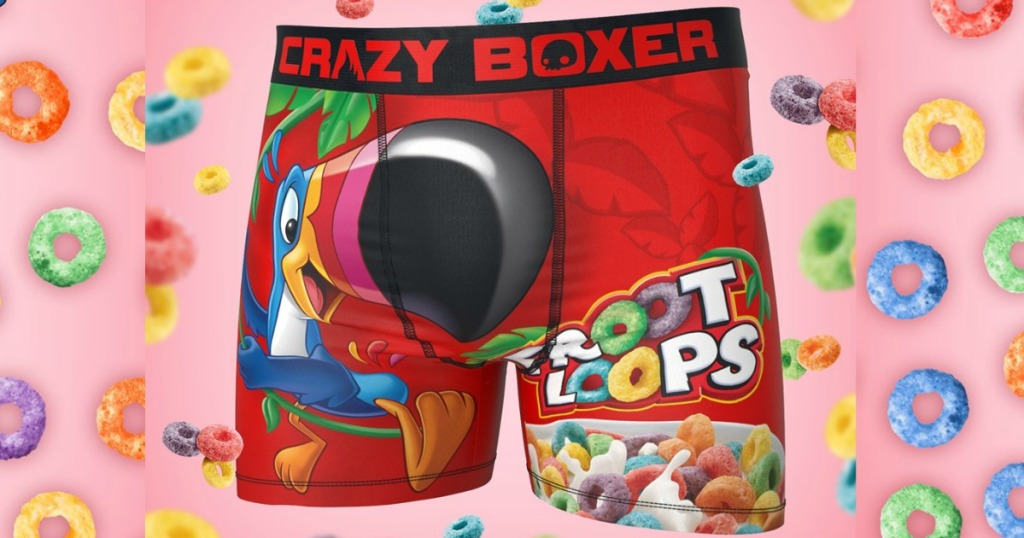 Crazy Boxers with Froot Loops behind them