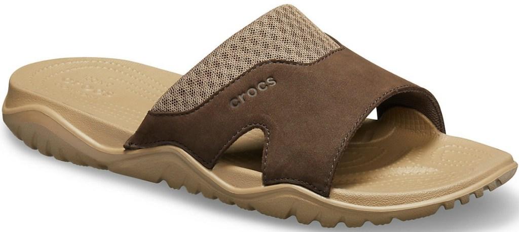 Crocs brand Men's leather slide sandal