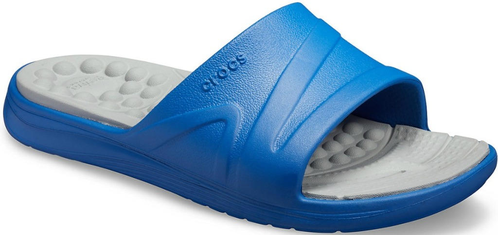 Unisex Crocs in blue and gray