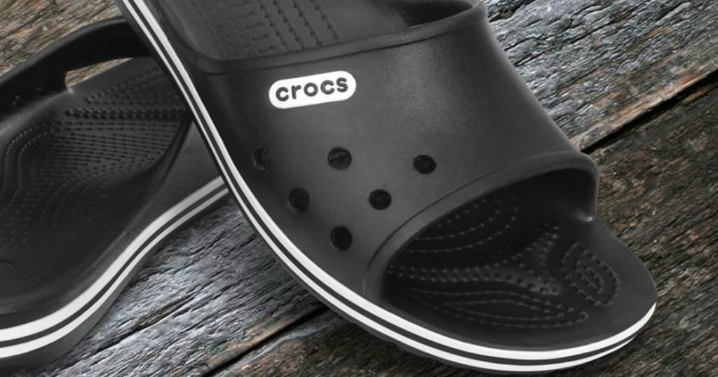 Crocs Slides in black