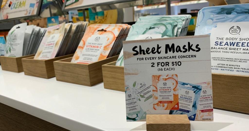sheet masks at The Body Shop