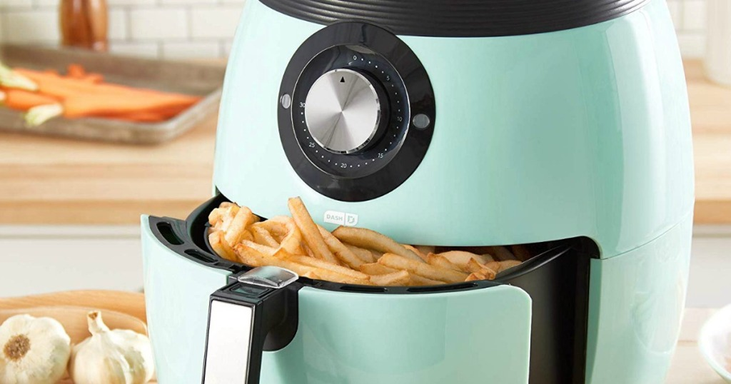 air fryer with fries in the basket