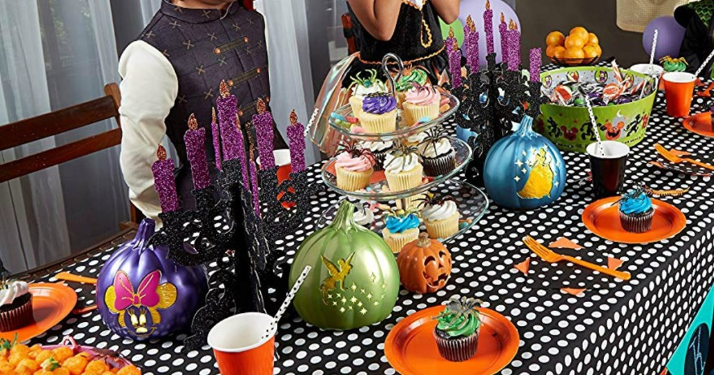 Halloween party with Disney decorations