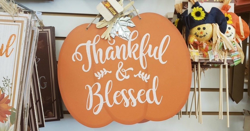 Dollar Tree Thankful & Blessed