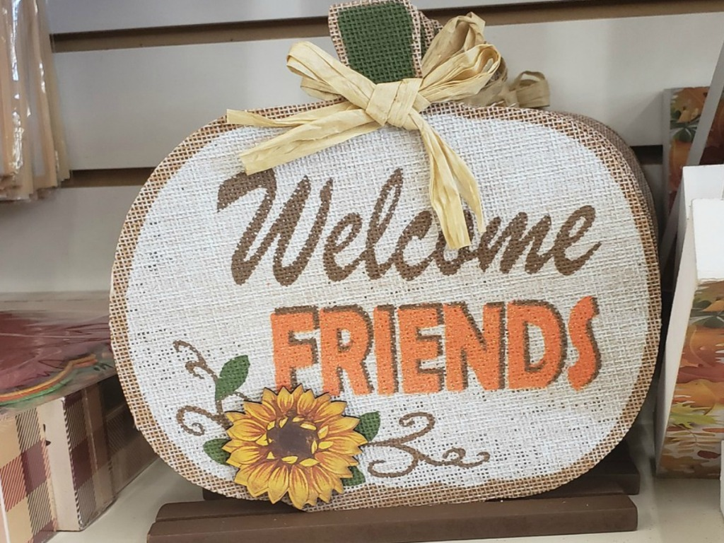 Dollar Tree Welcome Friends Table Sign