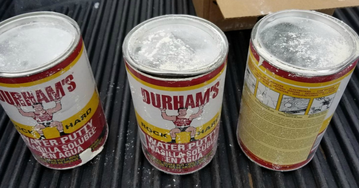 3 cans of Donald Durhams 1-Pound Rockhard Water Putty