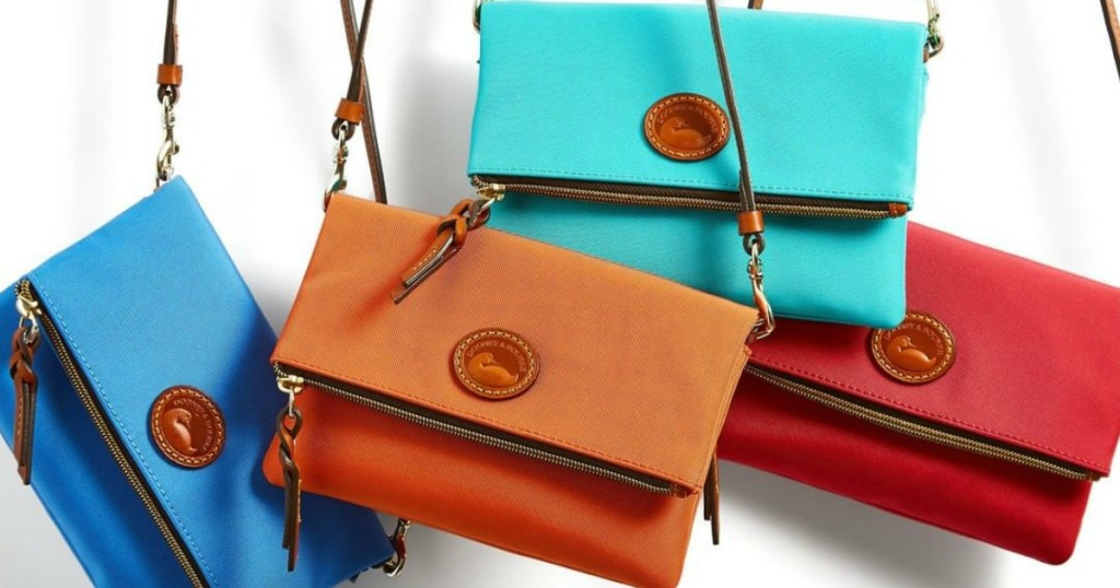 Dooney Crossbody Bags hanging in air