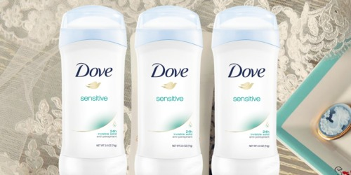 Dove Sensitive Skin Deodorant 6-Pack Only $10.89 Shipped at Amazon (Just $1.82 Each)
