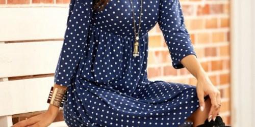 Three-Quarter Sleeve Empire-Waist Dresses Only $17.99 at Zulily (Regularly $64)