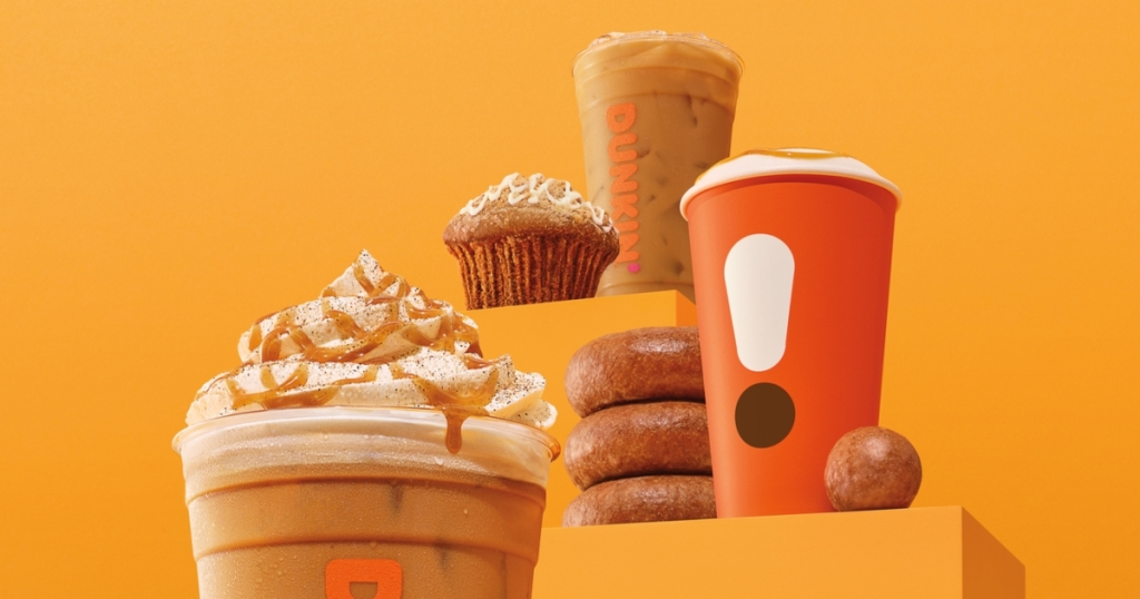 Dunkin pumpkin products for fall