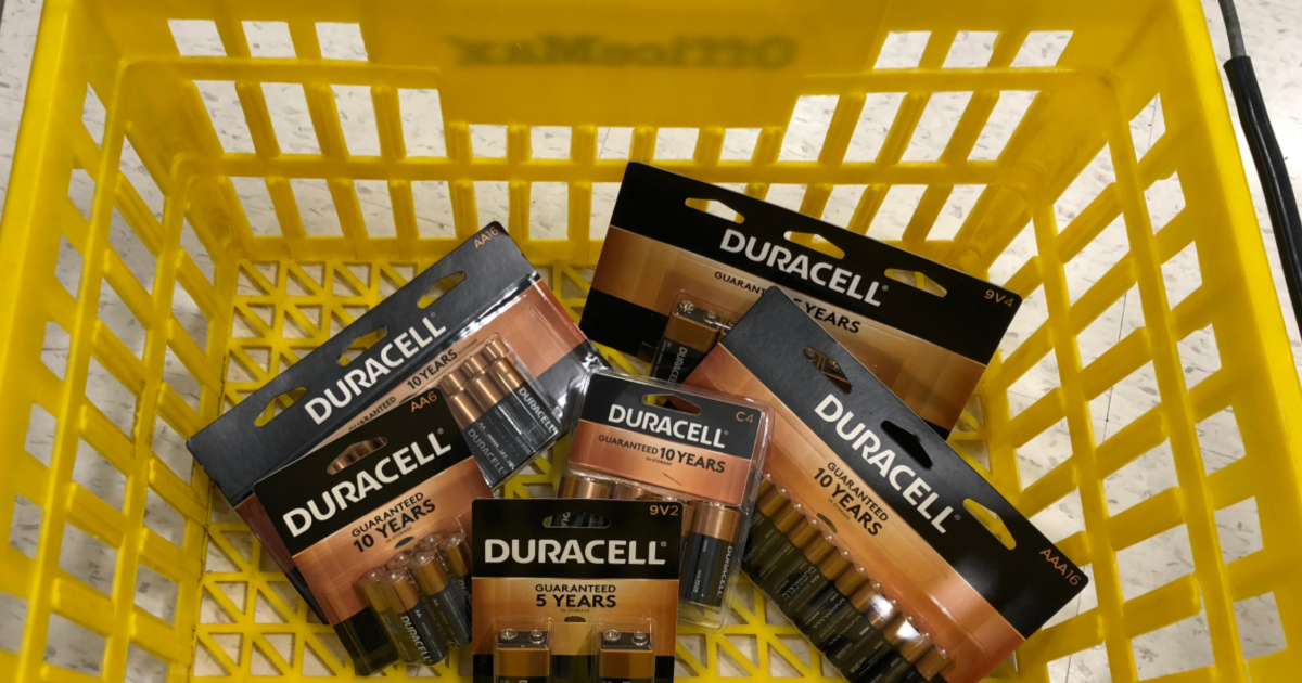 Duracell Batteries In Office Max Basket
