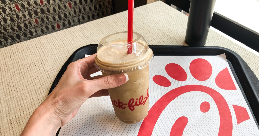 Chick-fil-A frosted caramel coffee
