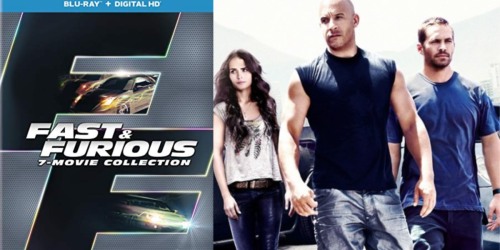 Fast & Furious Blu-ray + Digital HD Box Collection Only $16 | Includes 7 Movies
