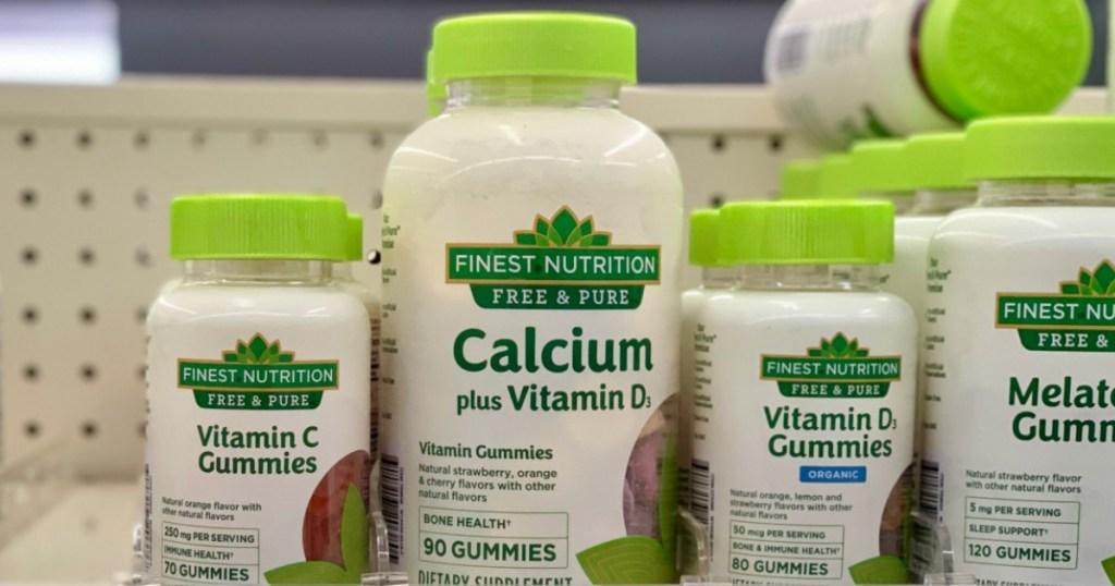 Finest Nutrition Vitamins on shelf at Walgreens