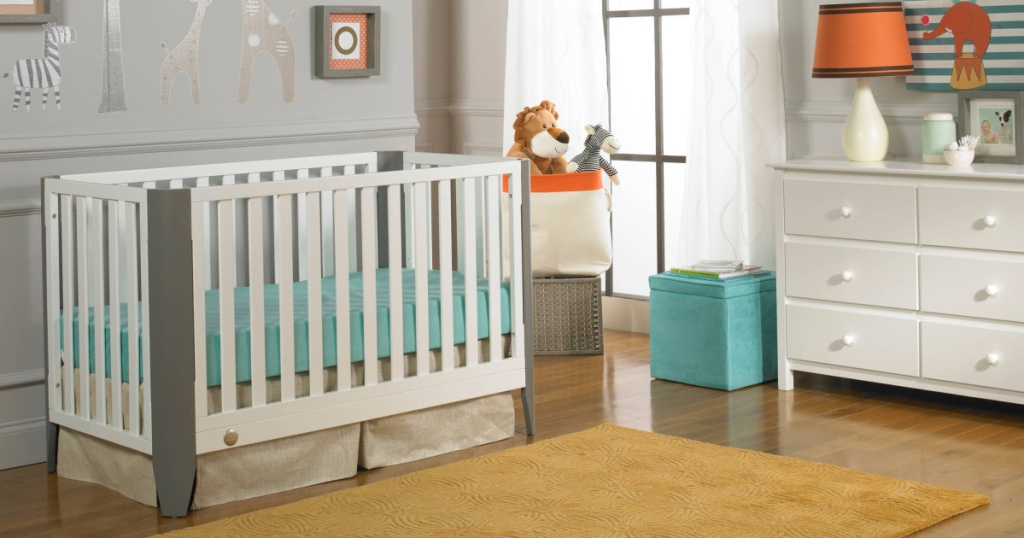 fisher price convertible crib in nursery