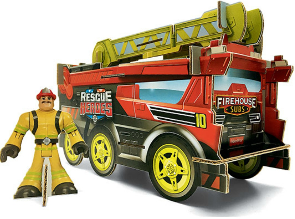 Build-your-own fire truck and hero set from Firehouse Subs