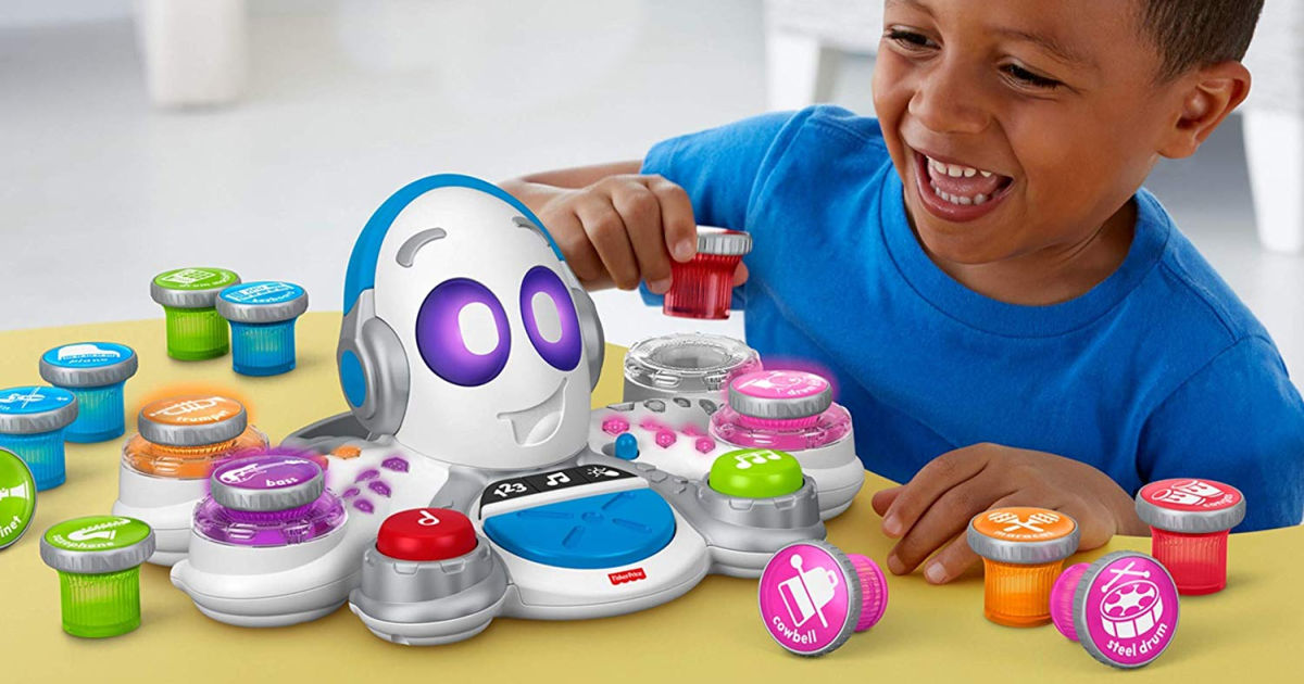 boy playing with Fisher-Price Think & Learn Rocktopus