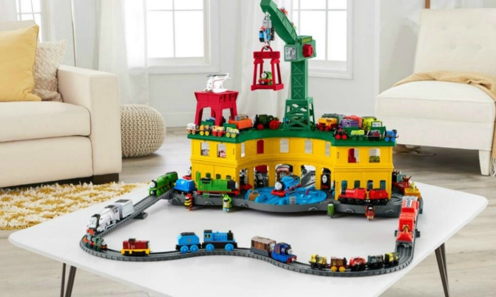Fisher Price Thomas the Train set-up on a table top