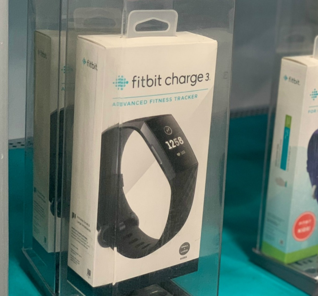 Fitbit Activity Tracker in store in package on display
