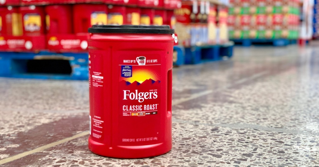 canister of Folgers coffee