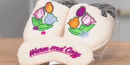 Dearfoams Foot Petals Slippers & Sleep Mask Sets Only $14.99 Shipped (Regularly $40)