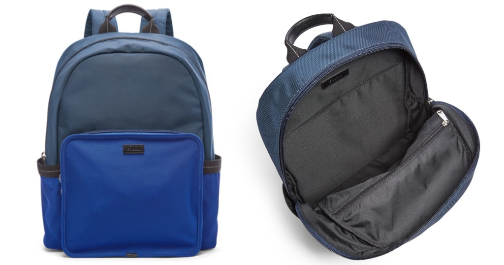fossil backpack in blue