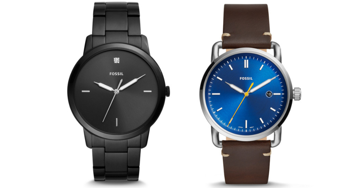 2 fossil watches
