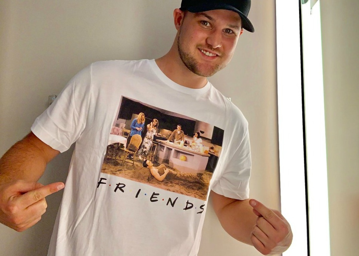 stetson wearing friends printed tee